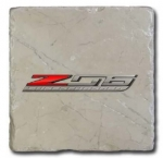 E22868 7TH GENERATION CORVETTE STONE  TILE COASTER-53-19