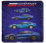 E22871 CORVETTE GRAND SPORT STONE TILE COASTER-53-19
