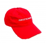 E23047 HAT-CORVETTE PACIFICA-RED-RED-WHITE-UNISEX-ADJUSTABLE BUCKLE