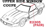 E2305 WEATHERSTRIP SET-UPPER SIDE WINDOW-COUPE-USA-PAIR-84-96