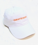 E23053 HAT-CORVETTE PACIFICA-WHITE-WHITE-ORANGE-UNISEX-ADJUSTABLE BUCKLE