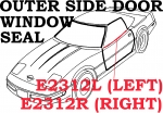 E2312L SEAL-WINDOW-OUTER SIDE DOOR PANEL-COUPE AND CONVERTIBLE-LEFT-84-96
