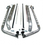 E3744 EXHAUST SYSTEM-SIDE-304 STAINLESS STEEL-2.5 INCH-SMALL BLOCK-327-65-67