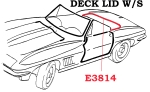 E3814 WEATHERSTRIP-DECKLID-CONVERTIBLE-USA-63-67