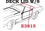 E3815 WEATHERSTRIP-DECK LID-CONVERTIBLE-USA-68-75