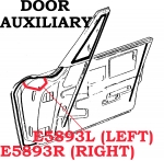 E5893L WEATHERSTRIP-DOOR AUXILIARY-USA-LEFT-63