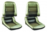 E700920 COVER-SEAT-100% LEATHER-MOUNTED ON FOAM-4 INCH BOLSTER-COLLECTOR EDITION-82