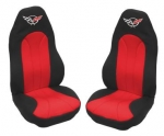 E7160 COVER-SEAT-NEOPRENE-BLACK/RED-97-04
