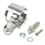 E9338 BRACKET-FUEL FILTER-327 SPECIAL HIGH PERFORMANCE-WITH STUD-CHROME-63-65