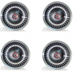E9937 WHEEL SET-ALUMINUM BOLT ON WHEEL-WITH CENTER BOWTIE CAP-COMPLETE-67