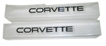 EC720 SILL EASE  / SILL COVERS / PROTECTORS-CLEAR-WITH BLACK LETTERS-PAIR-88-89