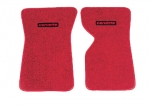 E14836LC MAT SET-FLOOR-80-20 LOOP-WITH EMBROIDERED CORVETTE LOGO-COLORS-PAIR-68-69