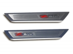 E21330 Sill Plate-Door-Outer-Polished-W/ Z06 505HP Logo Inlay-Pair-05-13