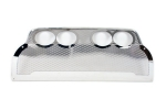 E21558 Panel-Exhaust-Borla Quad Oval Tip Exhaust-Perforated-Stainless Steel-05-13