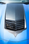 E21849 Graphic-Hood Vent-Black Carbon Fiber with Brushed Black Trim-14-17
