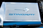 E21884 Cover-Fuse Box-Stainless Steel-Carbon Fiber-Stingray Script & Emblem-7 Colors-14-17