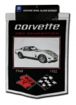 Corvette Generations Wool Wall Banner - 68 - 82