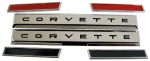 E4284 EMBLEM SET-FRONT SIDE FENDER-SIDE BARS AND CORVETTE-WITH FASTENERS-61