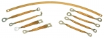 GROUND STRAP SET - WITHOUT SIDE EXHAUST - 9 PIECES - 63