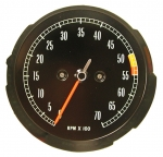 E6879NOS TACHOMETER-ASSEMBLY-WITH 5300 RPM RED LINE-NOS-65-67