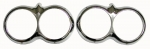 E8437 BEZEL-HEADLAMP-CHROME-IMPORT-PAIR-58-60