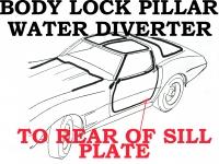 48529 DIVERTER-BODY LOCK PILLAR WATER-1 ST DESIGN-NOS GM-RIGHT-78-E79