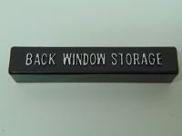 E3778 HANDLE-REAR WINDOW STORAGE-WITH CLIPS AND SCREWS-USA-68-72