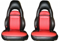 EC06 COVER-SEAT-100% LEATHER-SPORT-TWO TONE-97-04