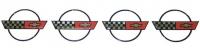 E12539 EMBLEM-CENTER CAP WHEEL-3D DOMED-4 PIECES-84-90