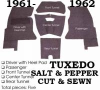 E12954 CARPET SET-COMPLETE-TUXEDO (SALT AND PEPPER)-CORRECT REPLACEMENT-61-62