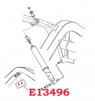 E13496 BOLT SET-BRAKE AND GAS LINE CLIP BLOCK-4 PIECES-56-67-REAR AXLE BUMPER BOLT-59-62
