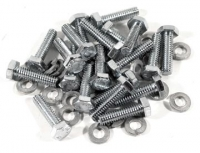 E15180 SCREW SET-ADAPTOR-FOR DIRECT BOLT KNOCK OFF WHEELS-WITH LOCK WASHERS-40 PIECES-63-66