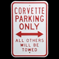E15786 SIGN-CORVETTE PARKING