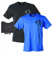 E15808 SHIRT-C7 STINGRAY VERTICAL-BLENDED COTTON-HEATHER BLACK