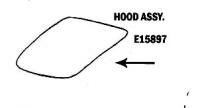 E15897 HOOD-ASSEMBLY-53-54