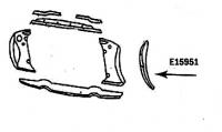 E15951 BONDING STRIP-RADIATOR SUPPORT VERTICAL-WHITE-LEFT HAND-56-57