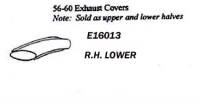 E16013 COVER-TAILPIPE-LOWER-PRESS MOLDED-WHITE-RIGHT-56-60