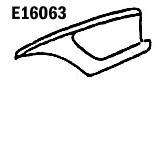 E16063 FENDER-PRESS MOLDED-WHITE-LEFT HAND-58-61