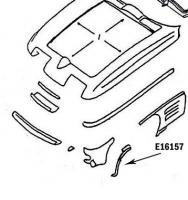 E16157 BONDING STRIP-WHEEL OPENING-PRESS MOLDED-GRAY-LEFT HAND-65-66