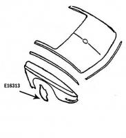 E16313 BAFFLE-REAR FENDER-REAR BAFFLE-PRESS MOLDED-GRAY-LEFT HAND-63-66