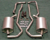 E20084 EXHAUST SYSTEM-STAINLESS STEEL-2.5 INCH-BIG BLOCK-427-MANUAL-68