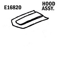 E16820 HOOD-ASSEMBLY-HAND LAYUP-SMOOTH INSIDE-76
