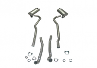 E20087 EXHAUST SYSTEM-STAINLESS STEEL-2.5 INCH-BIG BLOCK-454-AUTOMATIC-70-72