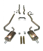 E20298 EXHAUST SYSTEM-MAGNAFLOW-DELUXE-2 TO 2.5 INCH-SMALL BLOCK-327/350-MANUAL-70-72
