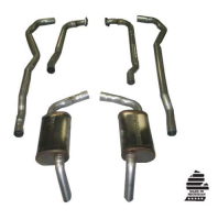 E20299 EXHAUST SYSTEM-MAGNAFLOW-2 TO 2.5 INCH-SMALL BLOCK-L82-AUTO-HIDEAWAY MUFFLER-74