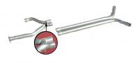 E20386 EXHAUST SYSTEM-ALUMINIZED-STRAIGHT PIPE-MUFFLER ELIMINATOR-STAINLESS STEEL TIPS-92-95