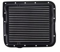E20926 PAN-TRANSMISSION-BLACK POWDER COATED ALUMINUM-SAND CAST-GM 700R4, 4L60, 4L60E-84-96