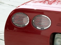 E21483 LIGHT COVER-TAIL LIGHT GRILLE-BILLET STYLE-POLISHED S/S-4 PC-97-04