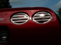 E21484 LIGHT COVER-TAIL LIGHT GRILLE-SLOTTED STYLE-POLISHED S/S-4 PC-97-04