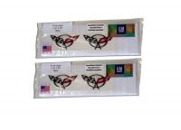 E21489 LIGHT COVER-TAIL LIGHTS-TRIM RINGS-POLISHED EXEC STYLE-W/ LASER MESH & EMBLEMS-12 PCS-97-04